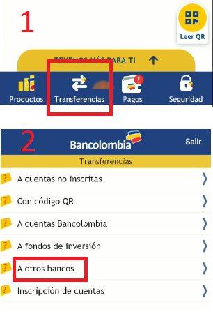 transferir de bancolombia a nequi sin inscribir